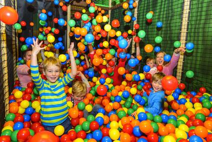 Freizeitpark mit den Kindern