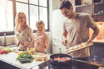 Kochen mit den Kindern